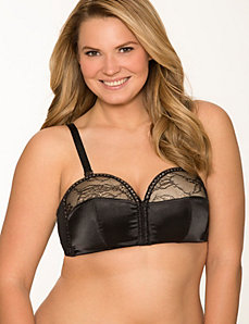 Satin & lace overwire French balconette bra