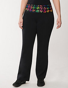 Yoga pant with LB printed waist