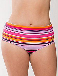 Striped swim hipster by COCOS Swim by LANE BRYANT