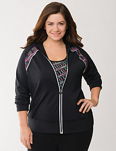 Active hoodie with techno trim by LANE BRYANT