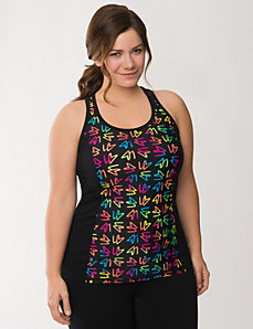 LB print active tank by LANE BRYANT