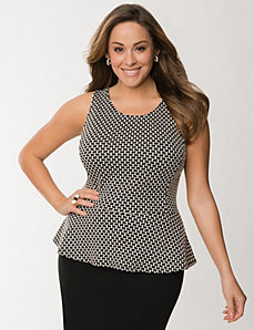 Geo peplum top