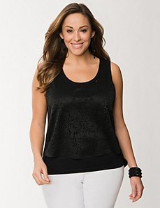 Perforated drama top by LANE BRYANT