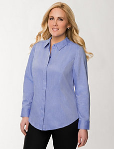 The Perfect Shirt with covered placket by LANE BRYANT