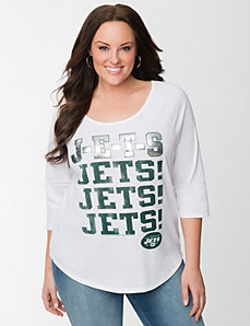 New York Jets 3/4 sleeve tee