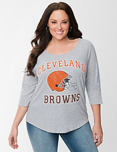 Cleveland Browns 3/4 sleeve tee by LANE BRYANT