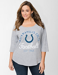 Indianapolis Colts 3/4 sleeve tee by LANE BRYANT
