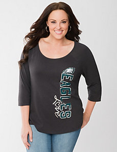 Philadelphia Eagles 3/4 sleeve tee by LANE BRYANT