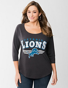 Detroit Lions 3/4 sleeve tee by LANE BRYANT