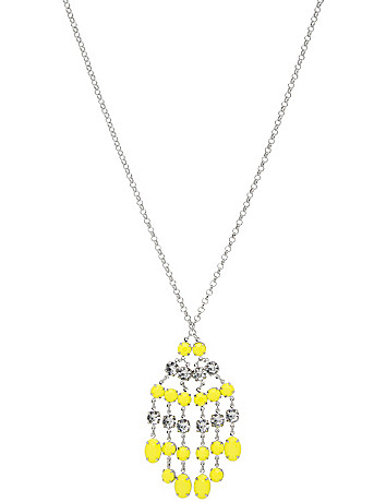 Neon fringe pendant necklace by Lane Bryant