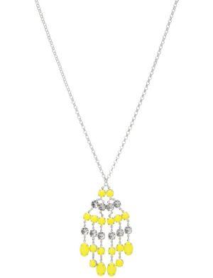 Neon fringe pendant necklace by Lane Bryant