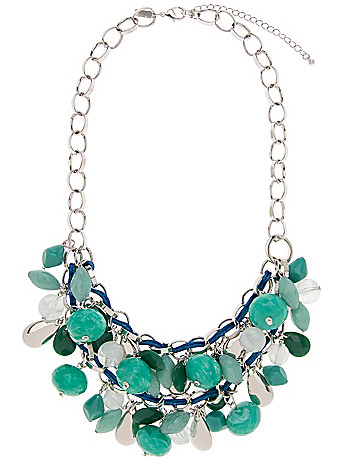 Stone & cording necklace by Lane Bryant
