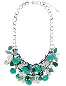 Stone & cording necklace by Lane Bryant by LANE BRYANT