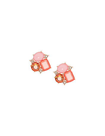 Geometric cluster earrings by Lane Bryant