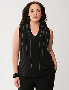 Lane Collection shot bead embellished top by LANE BRYANT