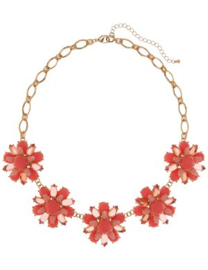 Cabochon flower necklace by Lane Bryant