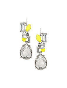 Neon pop teardrop earrings by Lane Bryant