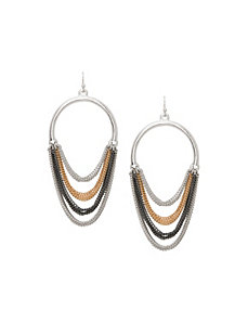 Multi chain hoop earrings by Lane Bryant by LANE BRYANT