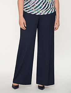 Lena soft twill wide leg pant by LANE BRYANT
