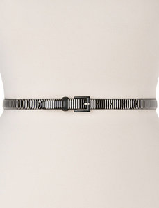 Striped skinny belt by LANE BRYANT