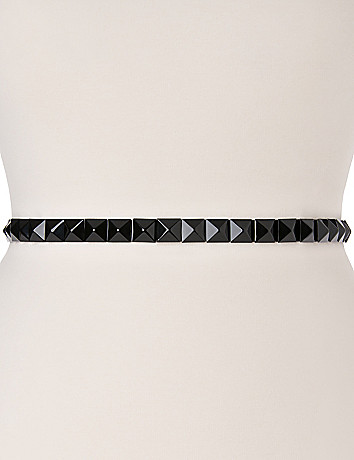 Pyramid stud stretch belt