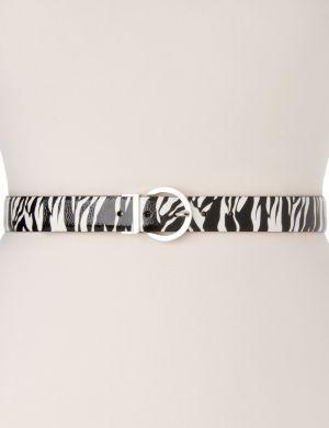Zebra & patent reversible belt