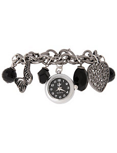 Charm bracelet watch by Lane Bryant