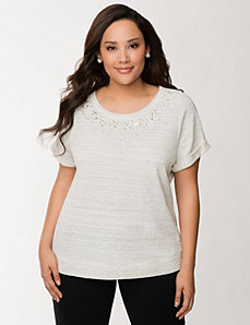 Embellished sweatshirt by LANE BRYANT