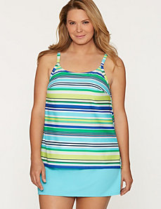 Breezy stripe swim tank by COCOS SWIM