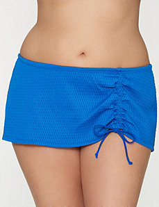 Textured drawstring swim skirt by LANE BRYANT