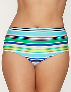 Breezy stripe swim hipster by COCOS SWIM by LANE BRYANT