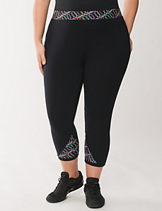 Capri legging with techno printed waist