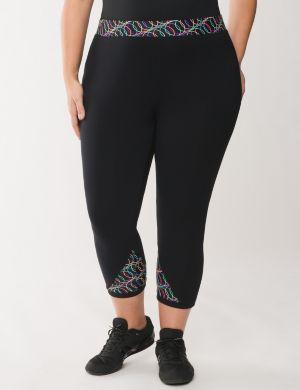 Capri legging with techno printed waist
