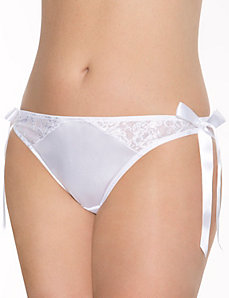Bridal side tie tanga panty