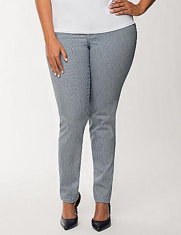 Railroad stripe skinny jean