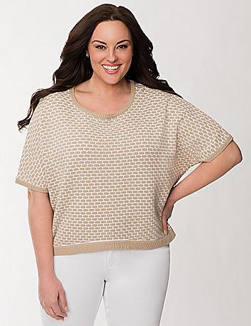 Waffle dolman sweater