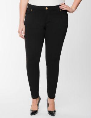Zip-ankle ponte skinny pant by Seven7