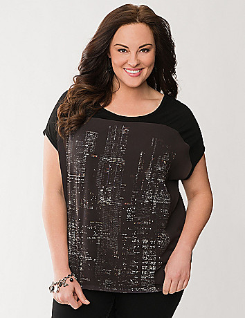 Cityscape graphic tee