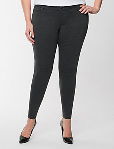 Zip-ankle ponte skinny pant by Seven7