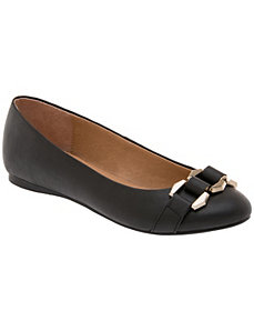 Hidden wedge ballet slipper by LANE BRYANT