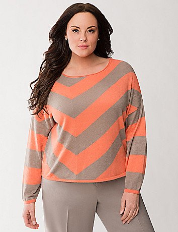 Lane Collection chevron sweater