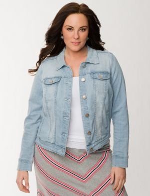 High low denim jacket