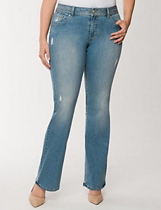 Genius Fit™ destructed bootcut jean by LANE BRYANT