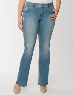 Genius Fit™ destructed bootcut jean