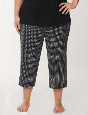 Diamond print cropped sleep pant