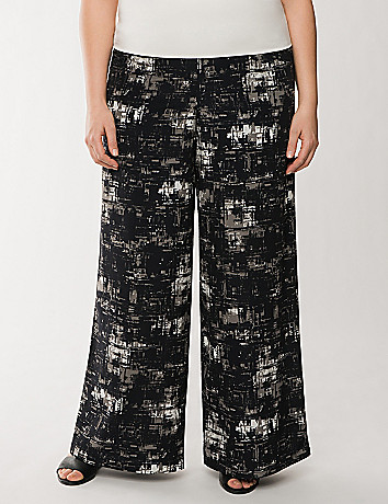 Lane Collection printed palazzo pant