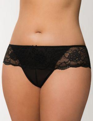 Lace waist cheeky panty
