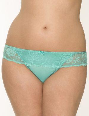 Lace waist thong panty