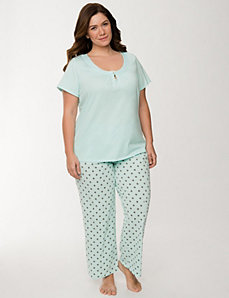 Polka dot sleep set by LANE BRYANT