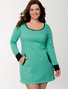 Dainty dots sleep shirt by LANE BRYANT